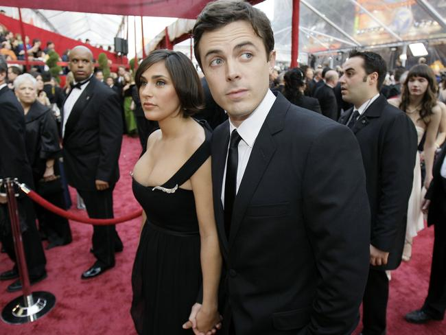 Casey Affleck with then wife, Summer Phoenix, in 2008. Picture: AP