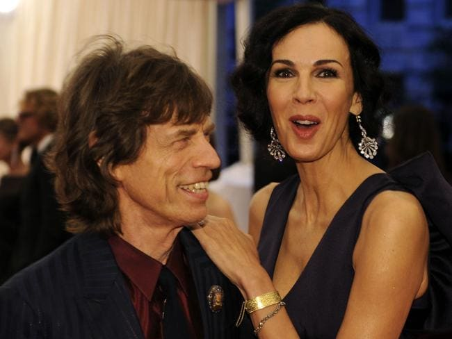 Tragic ... Mick Jagger and L'Wren Scott attend the Costume Institute Benefit at The Metropolitan Museum of Art in 2012.