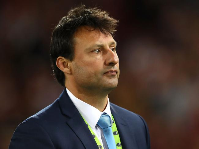 Blues coach Laurie Daley looks dejected after game three.