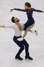 Gabriella Papadakis and Guillaume Cizeron of France perform during the ice dance, free dance figure skating final in the Gangneung Ice Arena at the 2018 Winter Olympics in Gangneung, South Korea, Tuesday, Feb. 20, 2018. Picture: AP Photo/Morry Gash
