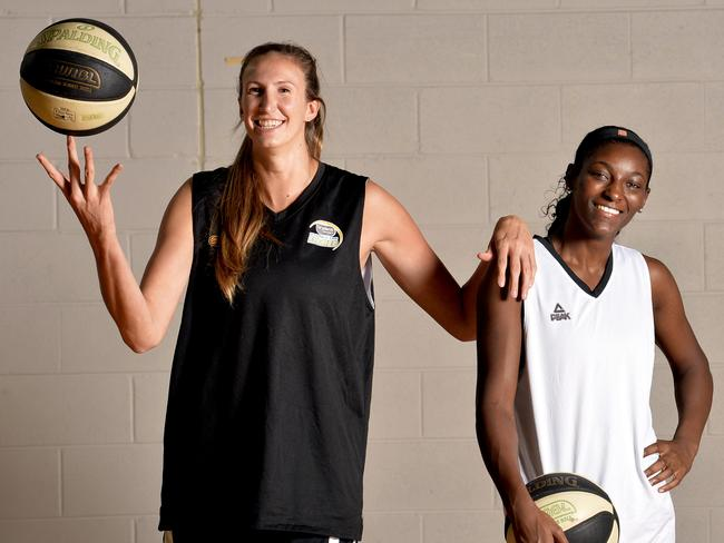 Sydney Flames imports Jen Hamson and Asia Taylor.