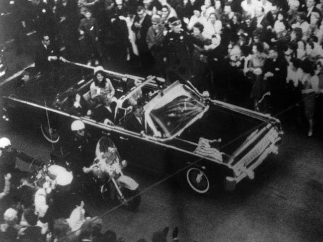 Some 2,800 files on the JFK assassination have now been made public, and they capture the frantic days following the 1963 assassination. Picture: AP