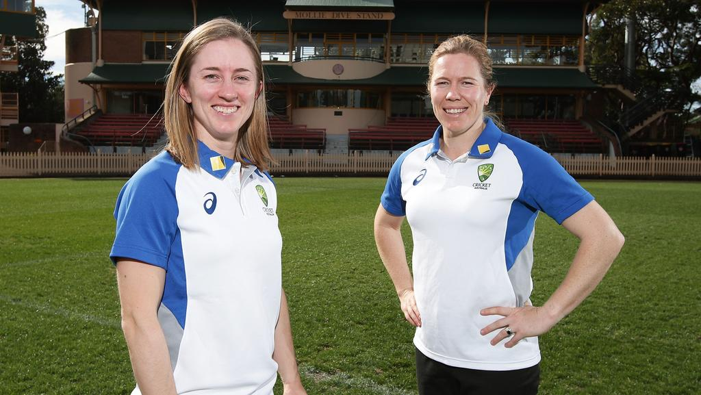 Rachael Haynes (L) and Alex Blackwell (R) have been named Australia's captain and vice-captain for the upcoming Ashse.