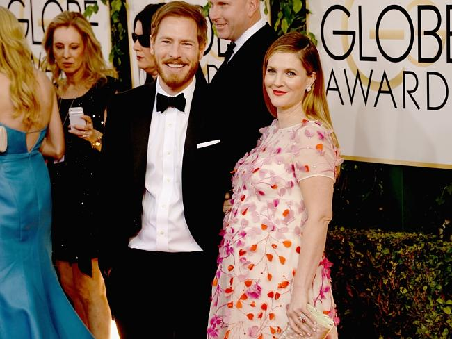 Drew Barrymore was glowing on the red carpet of January's 71st Annual Golden Globe Awards.