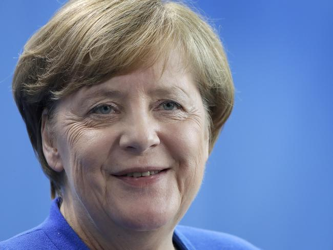 German Chancellor Angela Merkel emphasised the unity of the remaining 27 EU countries ahead of the talks. Picture: Michael Sohn/AP