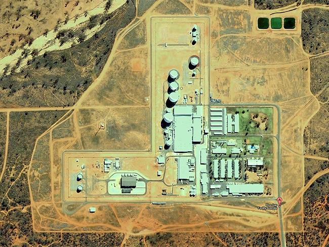 Top Secret sites: one of the world's biggest spy bases is located in the middle of Australia at Pine Gap, NT. Source: Google Earth
