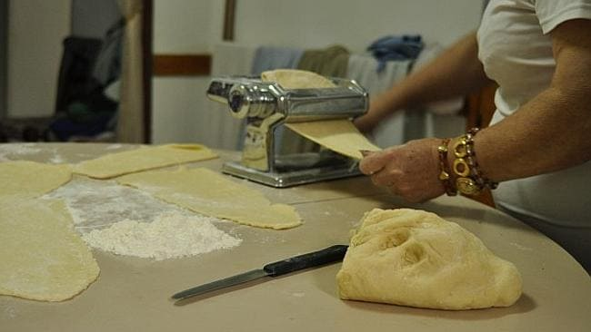 Pasta making demonstration with a real life Italian Nona.