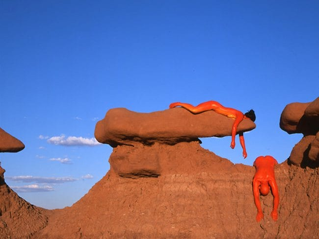 Bodies blend in but at the same time stand out of Bourdier's images. Picture: Jean Paul Bourdier