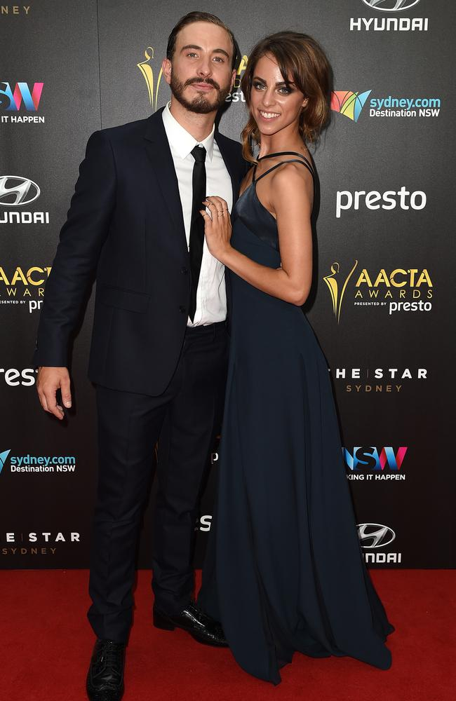 Kyla Bartholomeusz and Ryan Corr arrive ahead of the 5th AACTA Awards Presented by Presto at The Star on December 9, 2015 in Sydney, Australia. Picture: AAP