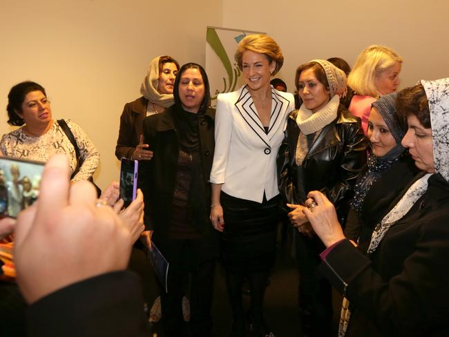 Key initiatives to reduce pay gender inequity ... Assistant Minister for Women, Senator Michaelia Cash at the Australian Muslim Women's Centre for Human Rights in Melbourne.