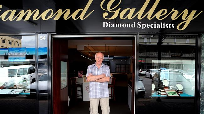 Owner of The Diamond Gallery in Cairns Keith Bird outside his shop.