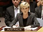 Julie Bishop, Australian Minister for Foreign Affairs, speaks during a security council meeting at United Nations headquarters. The council unanimously adopted a resolution demanding full access to the crash site of Malaysia Airlines flight MH17. Picture: AP