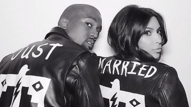 Kim Kardashian and Kanye West. Picture: Instagram.