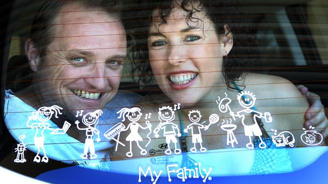 The now-wealthy creators of the My Family stickers, Monica Liebenow and Phil Barham