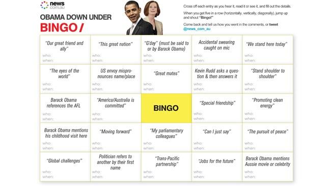 obama down under bingo