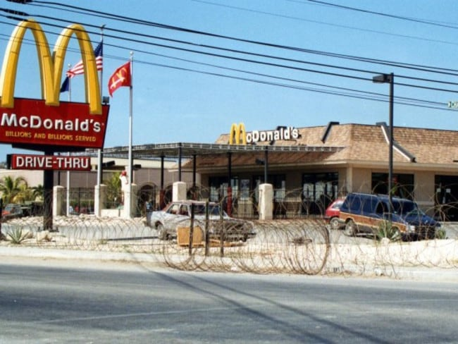 Want some barbed wire with those fries?