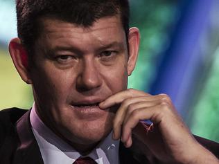 Billionaire James Packer, co-chairman of Melco Crown Entertainment Ltd., attends a news conference at Melco's Studio City casino resort in Macau, China, on Tuesday, Oct. 27, 2015. Studio City, which opens today, is the latest test of the former Portuguese colony's ability to attract visitors wanting to play on more than gaming tables and slot machines. Photographer: Justin Chin/Bloomberg *** Local Caption *** James Packer