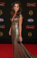 2014 - Belinda Riverso on the red carpet during the arrivals for the 2014 AFL Brownlow Medal at Crown Casino on Monday, September 22, 2014, Picture: Tim Carrafa