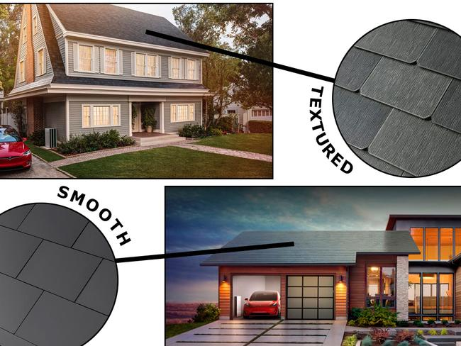 Tesla announced it will ship two designs of its solar tile roof panels worldwide by next year.