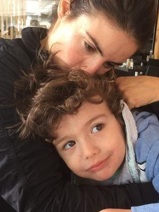 Ada Nicodemou with her son Johnas Xipolitas.