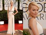 Golden Globes 2014 Red carpet arrivals at the The Beverly Hilton: Aussie Wolf of Wall Street star Margot Robbie walks the red carpet. Picture: Getty