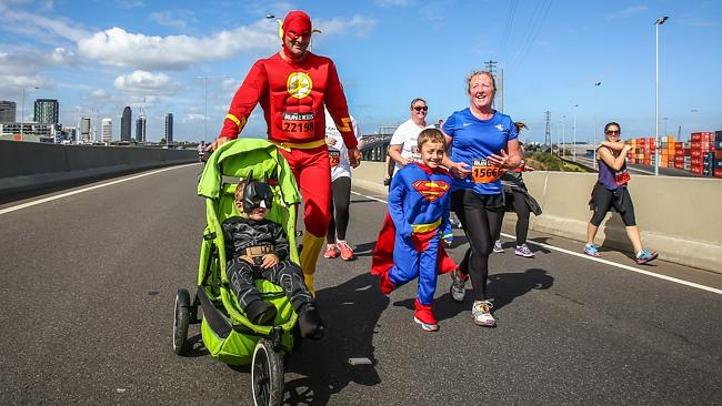 A family of superheroes. Picture: Mark Dadswell