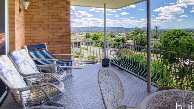 The front deck on the house at 75 Bracken St, Moorooka. Picture: realestate.com.au.