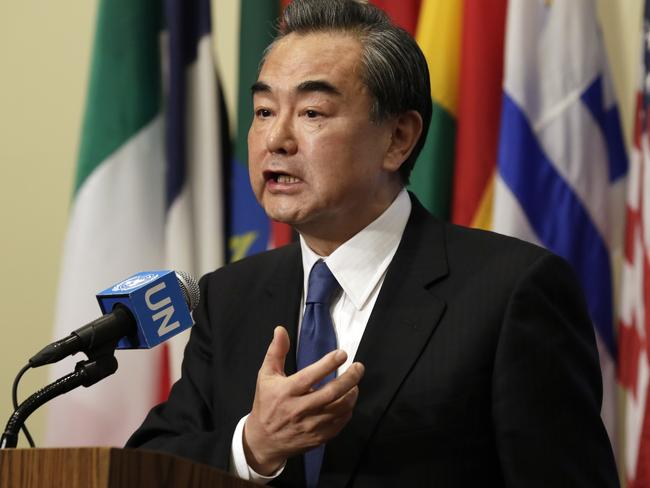 "China's Foreign Minister Wang Yi said dialogue and negotiations on North Korea are ""the only right choice""."