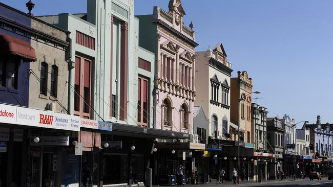 Sydney's Newtown is popular with both gay men and lesbians. Picture: Timothy Clapin