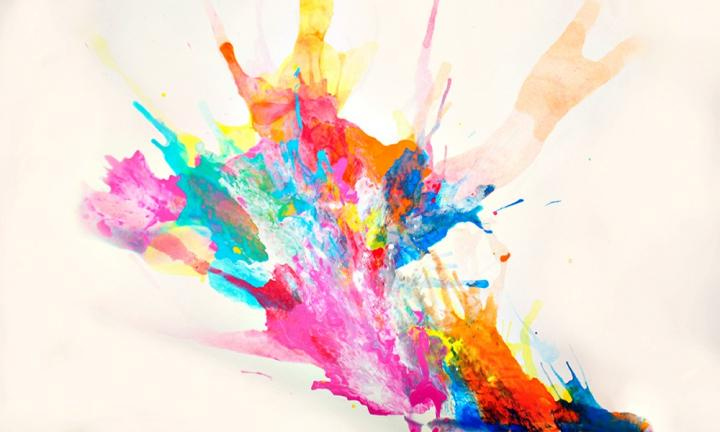 Create a blow painting