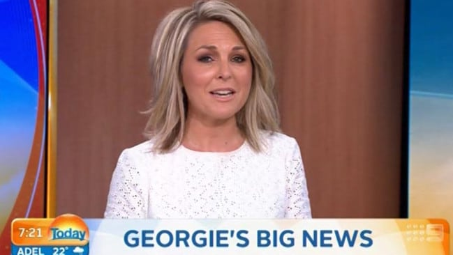 HERE TODAY: Georgie Gardner announced her plans to leave Today during the show's Monday broadcast. Pic/Nine.