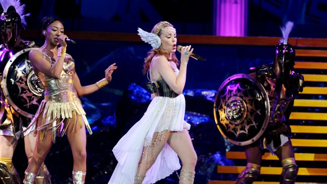 Kylie Minogue on her 'Aphrodite' tour around Australia.