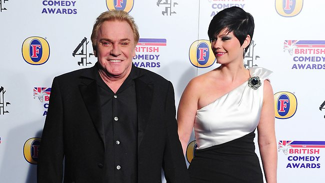 British comedian and TV personality Freddie Starr and his fiancee Sophie Lee, in this file photo dated December 16, 2011, in London.