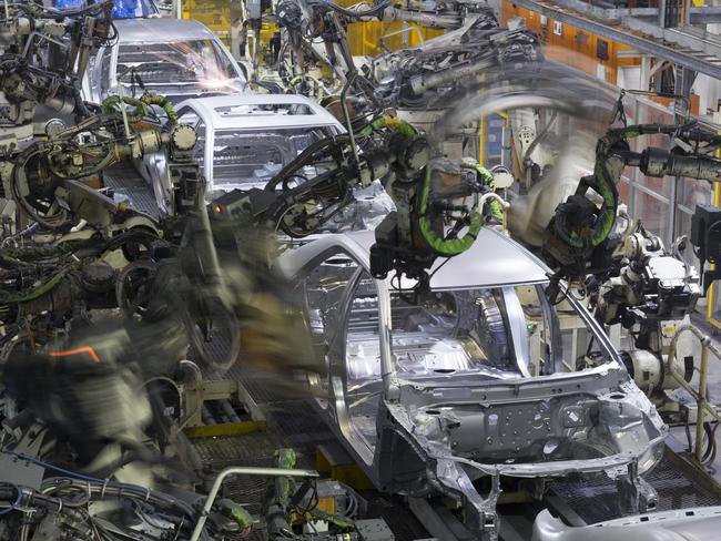 The Toyota Camry being assembled at the Altona factory. Picture: Supplied.