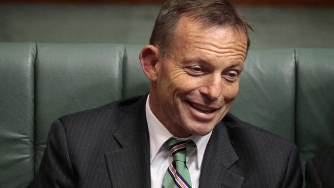 Tony Abbott in Parliament in 2009. This is not the day in question.