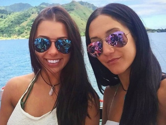 Melina Roberge and Isabelle Legace all smiles during the two month trip. Picture: Instagram
