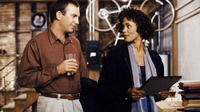 Kevin Costner and Whitney Houston in 'The Bodyguard'.