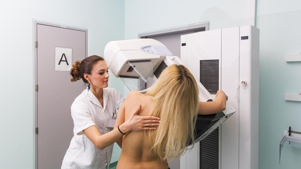 Generic photo of a woman getting a mammogram. Picture: iStock