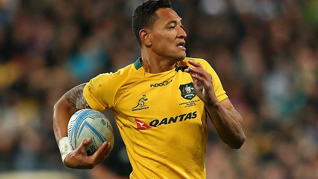 Israel Folau gets his chance at fullback for the Wallabies.