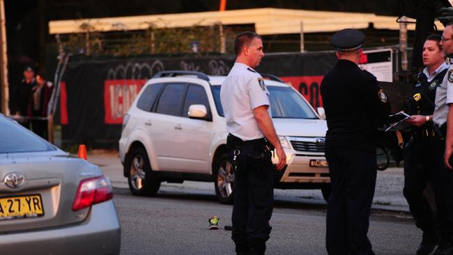 Police officers at the scene in Durham St, Hurstville / Picture: John Appleyard