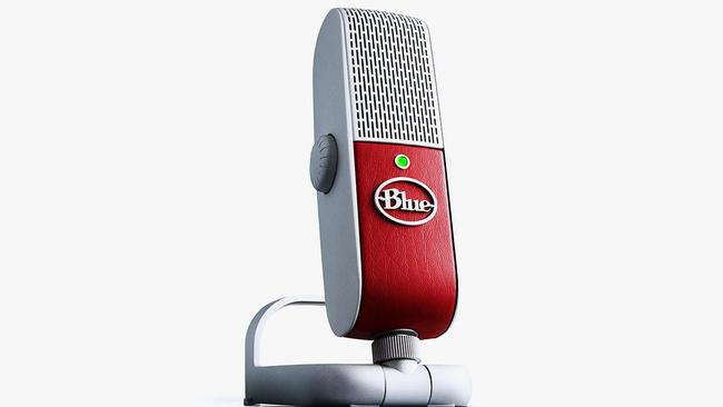 The Blue Raspberry microphone records 24-bit sound to an Apple iPad or iPhone, or a Mac or PC.