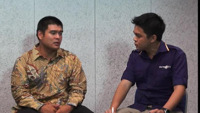 Michael Chan talks on Indonesia's Metro TV channel about the executions of Myuran Sukumaran and Andrew Chan in the coming days. Picture: Metro TV