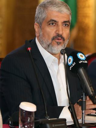 Exiled Chief of Hamas' Political Bureau Khaled Meshaal is also based in Qatar. Picture: Karim Jaafar/AFP