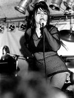Amphlett, sings with her band during a free Divinyls concert in 1990. Picture: Lily Zdilar