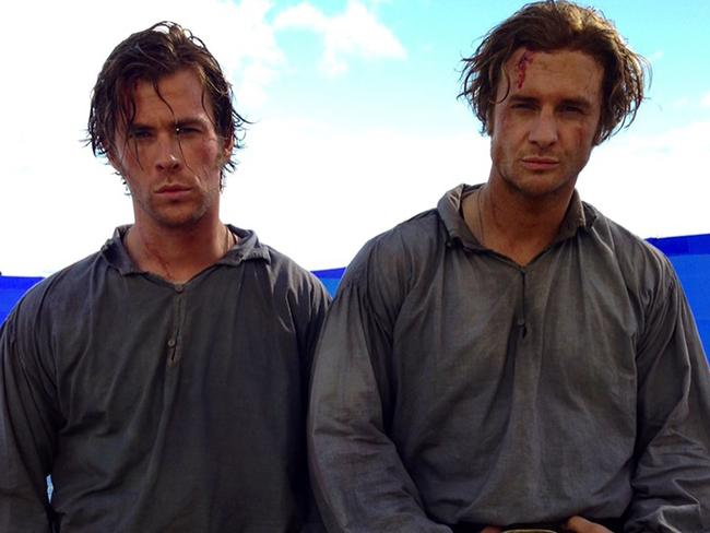 Bobby Holland Hanton as Chris Hemsworth's body double on 2015 film In the Heart of the Sea. Picture: Bobby Holland Hanton