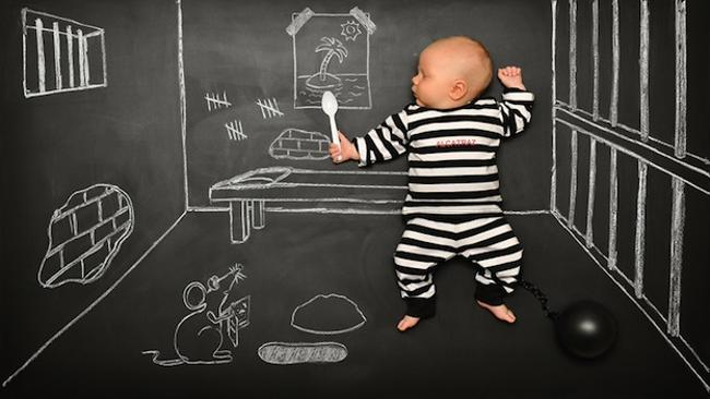 Anna Eftimie's baby blackboard creations. Picture: www.cutemomentsphotography.com