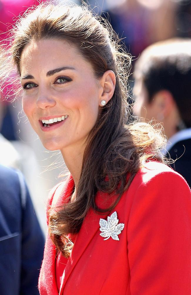 Showing solidarity with Canada, in a super-stylish way. Picture: Chris Jackson/Getty Images