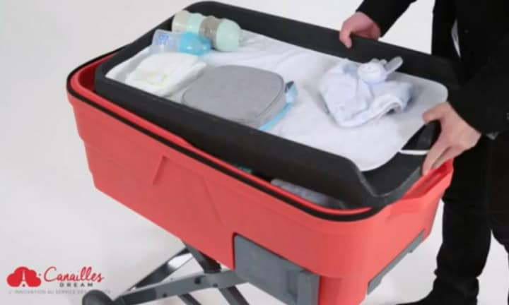 This suitcase brings 5 of your baby items along with you