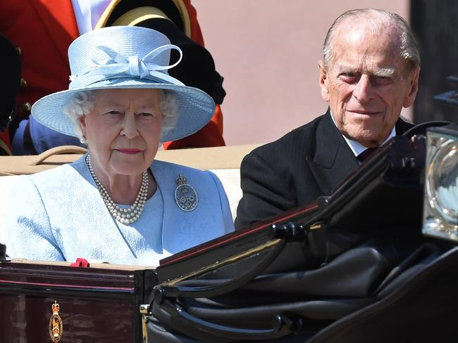 The Queen and Prince Philip pictured together in London just days ago.