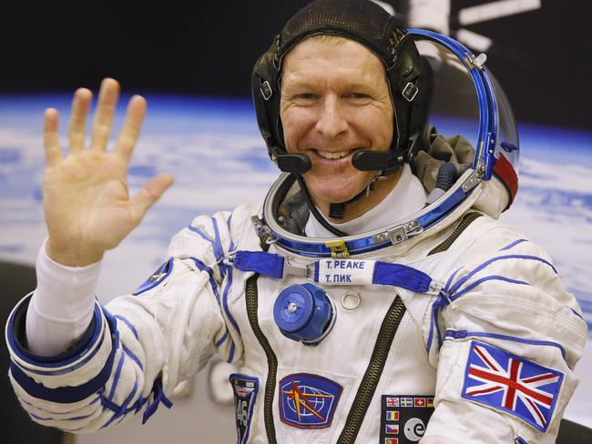 History ... British astronaut Tim Peake, member of the main crew of the expedition to the International Space Station (ISS). Picture: AP